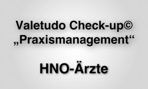 """Valetudo Check-up© """"Praxismanagement"""""""
