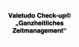 Valetudo_Check-up_Ganzheitliches_Zeitmanagement