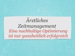 Arztpraxis Zeitmanagement Optimierung Valetudo IFABS Thill Gesundheitswesen Medizin