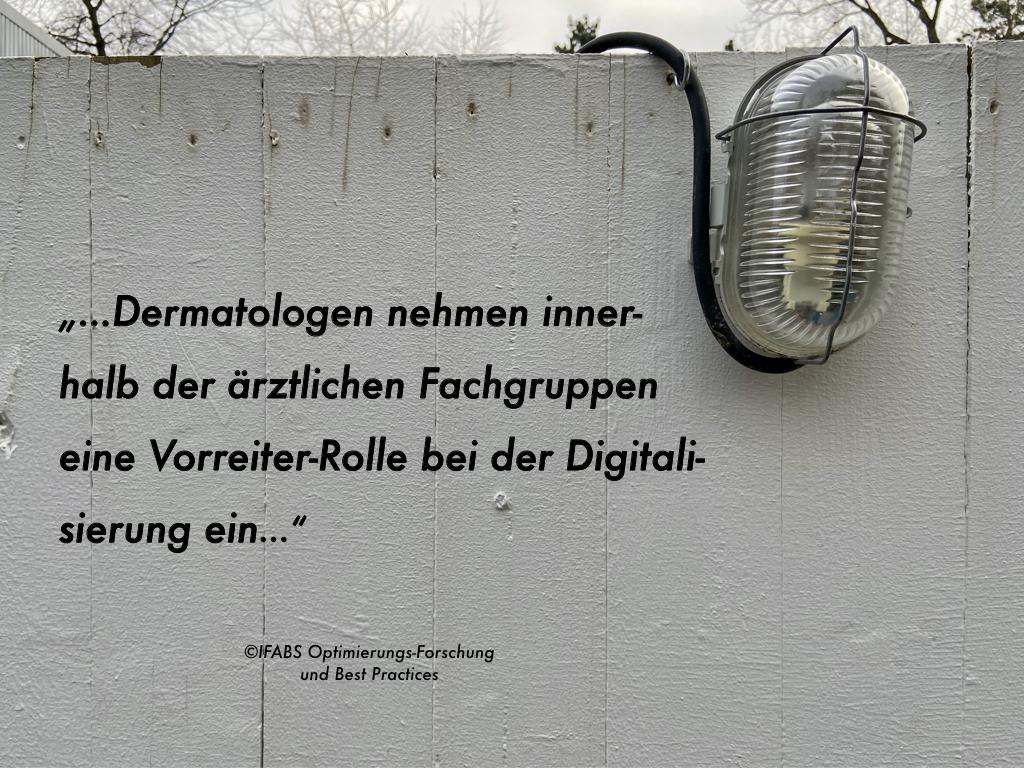 Digitalisierungs-Indikator des Praxismanagement-Betriebsvergleichs: Dermatologen auf dem Vormarsch