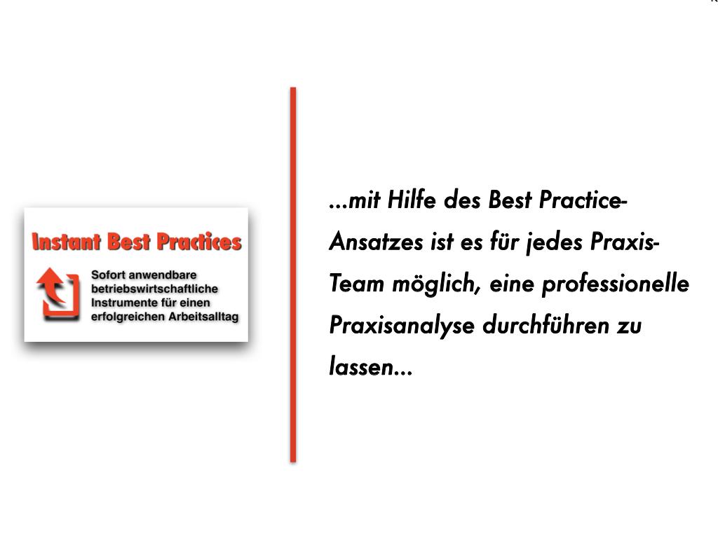 Beratungs-Innovation: So wird eine Praxismanagement-Analyse für jede Praxis möglich