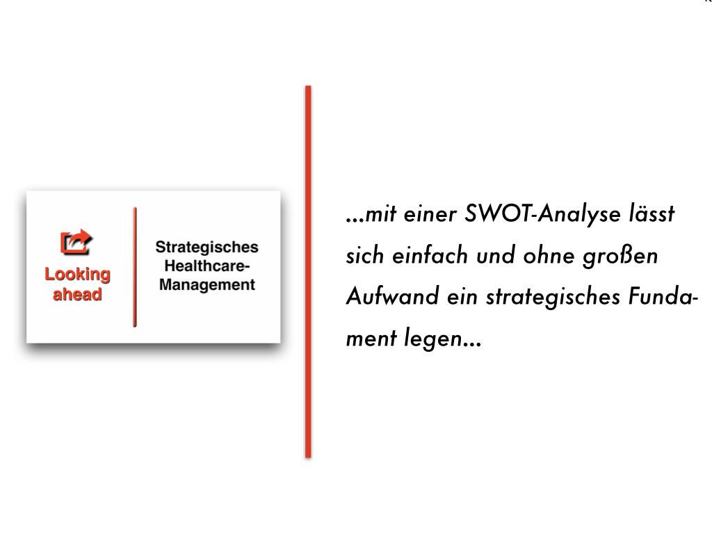 Einfach und effizient zu Perspektiven für die Akteure im Gesundheitswesen: Die SWOT-Analyse