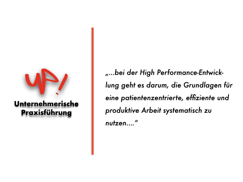 IFABS High Performance Unternehmerische Praxisführung.